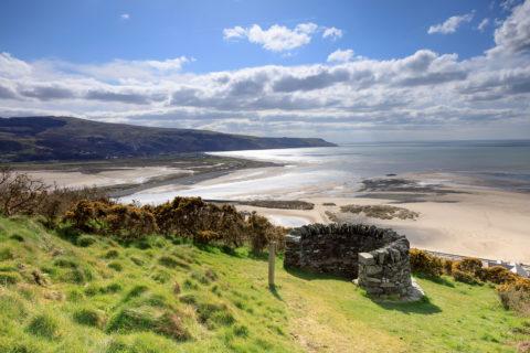 View from Centenary Viewpoint on Dinas Oleu hillside - National Trust