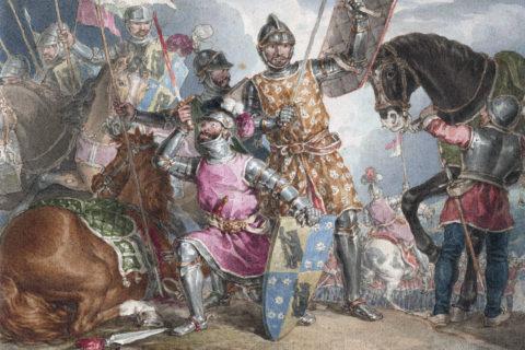 """Shakespeare's Henry VI, Part 3, Act 2"" by John Augustus Atkinson, late 18th century"