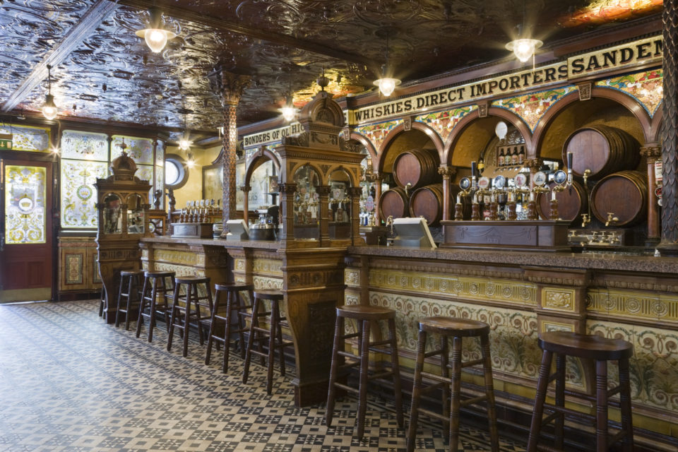 The Crown Bar Interior, Great Victoria Street, Belfast. ©National Trust Images John Hammond