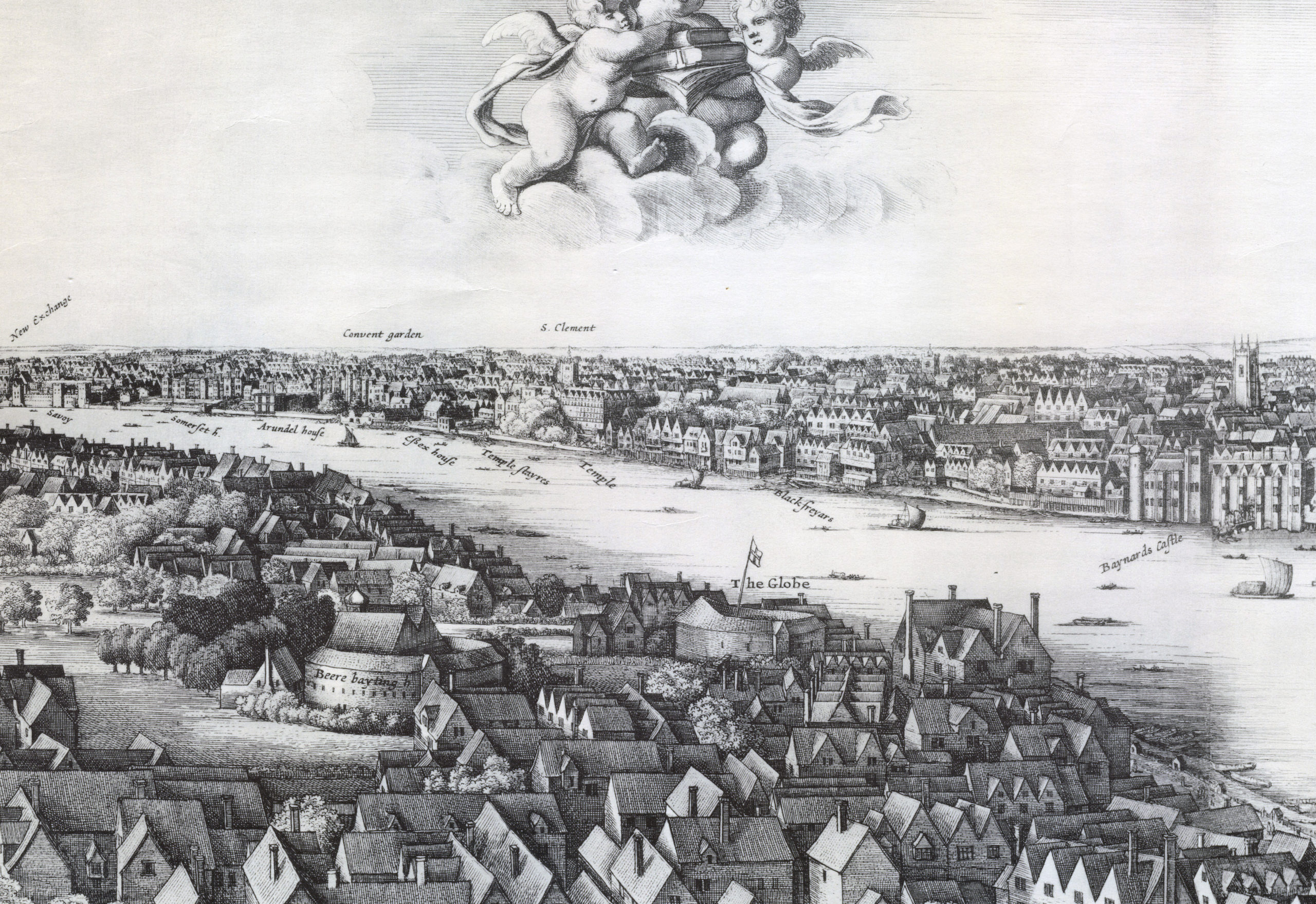 1647 - Long view of London From Bankside - Wenceslaus Hollar