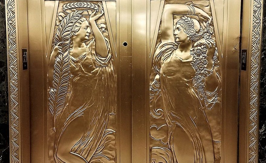 Art Deco detailon elevator doors at One North LaSalle (detail). Photo courtesy of the Chicago Architecture Center