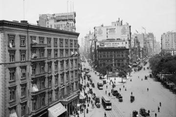 Madison Square from the Flatiron Building, c. 1905, Detroit Publishing Company