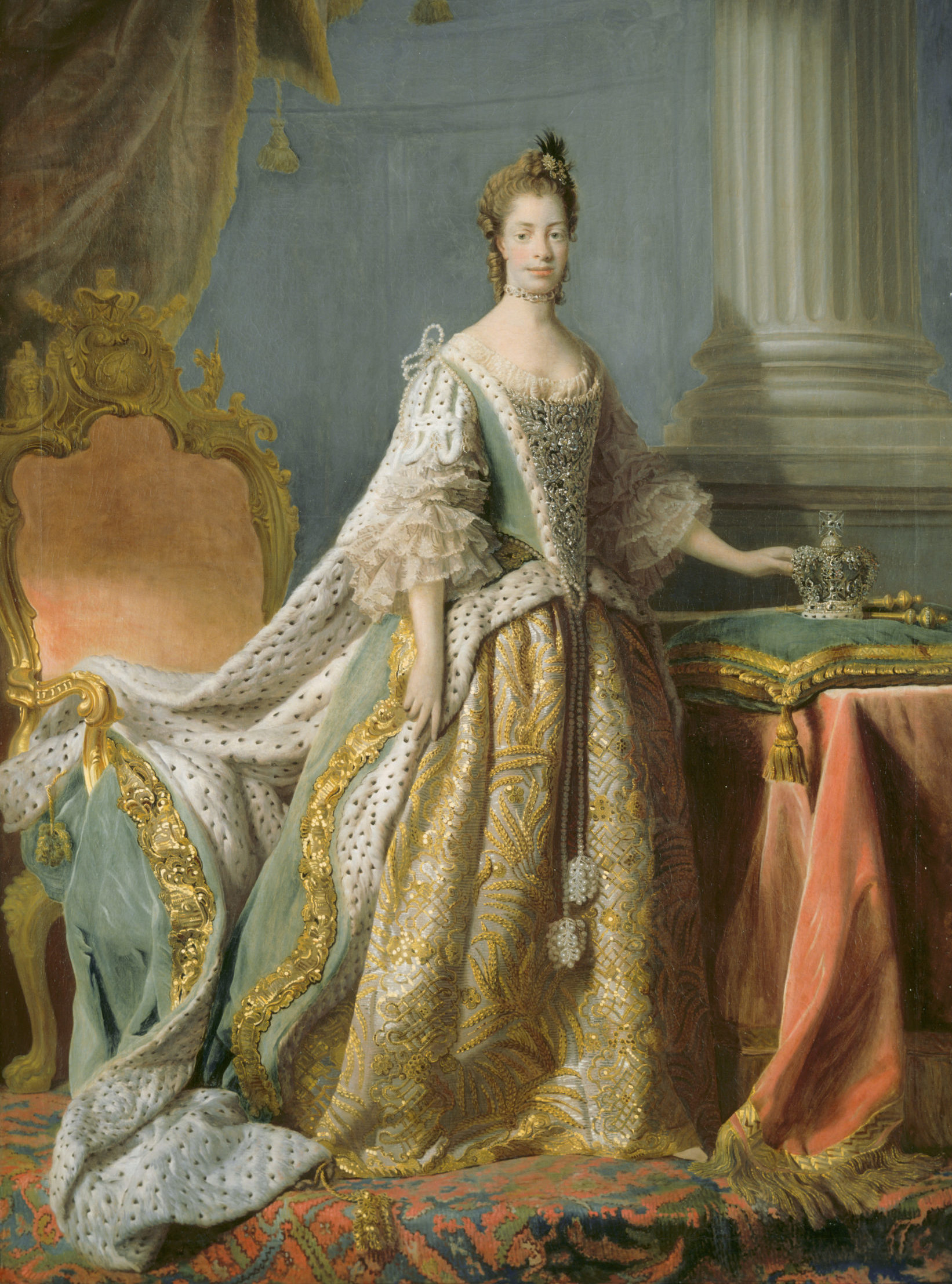 Queen Charlotte (after Allan Ramsay) by David Martin, 1766, Blicking Hall, © National Trust Christopher Hurst