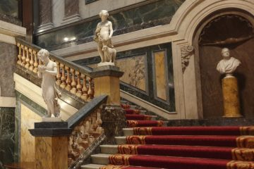 Entrance Hall Staircase at Goldsmith's Hall, completed in 1835 to the design of Philip Hardwick